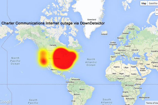Canada Internet Outage Map Was Charter Interhacked?   Laboratory of Hidden Alternatives